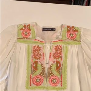 Long sleeve beaded blouse